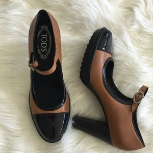NWOB Tod's Mary Jane Platform Heels Pumps